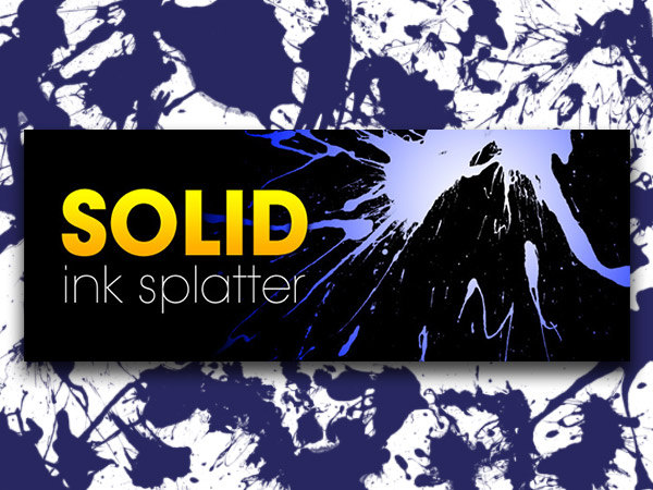 Solid Ink Splatter Brushes