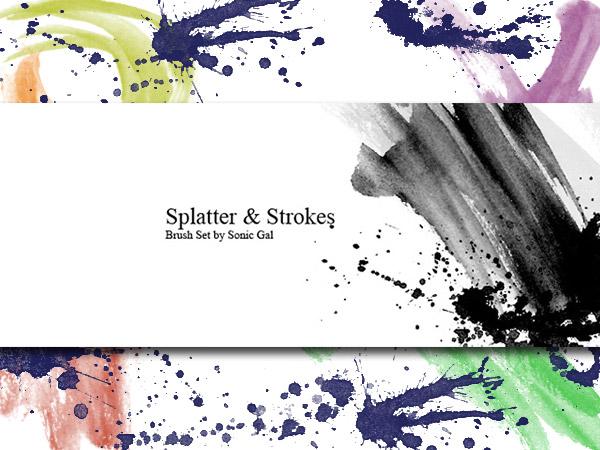 Splatter & Strokes Brushes