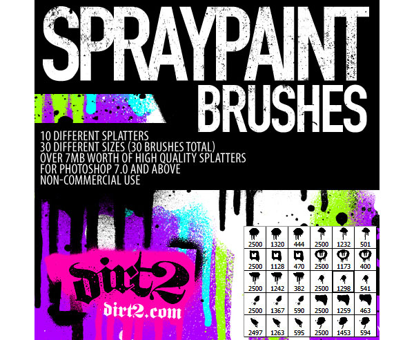 Spraypaint PS Set Brushes