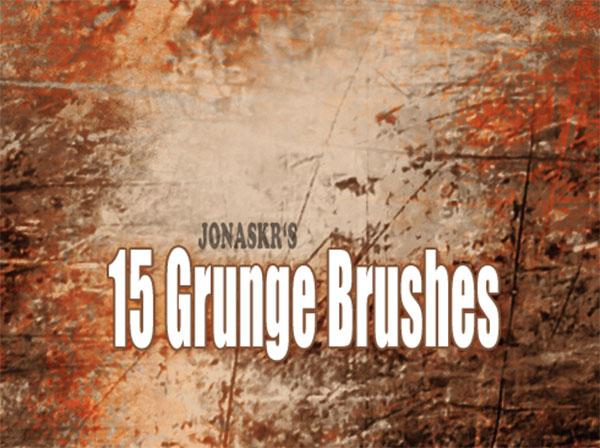 15 Grunge Rust Brushes