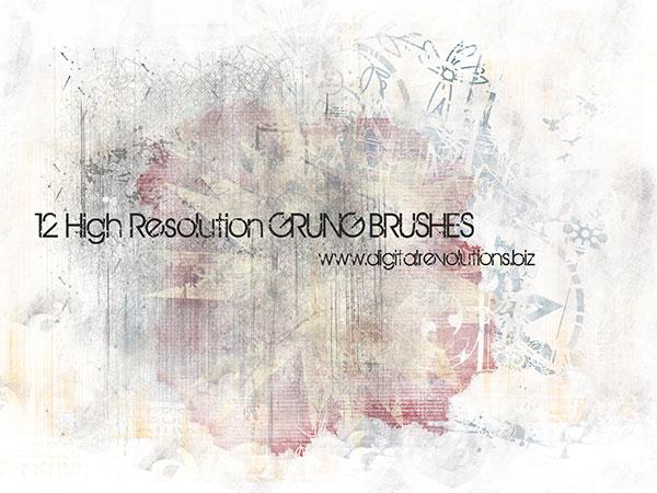 Grunge Photoshop Brushes Free