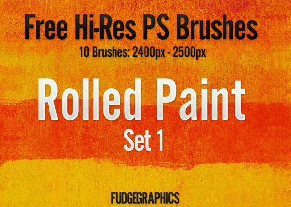 Rolled Paint Set 1 Brushes