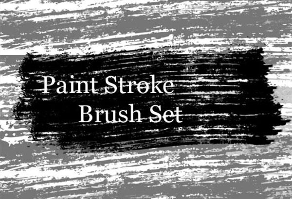Grungy Paint Strokes Photoshop Brushes Set
