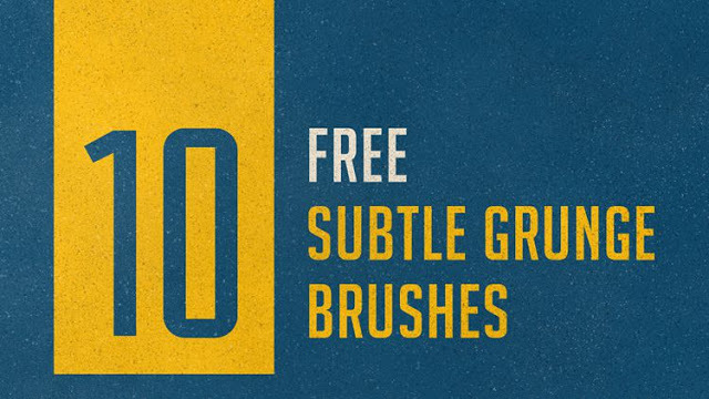 10 Subtle Grunge Brushes
