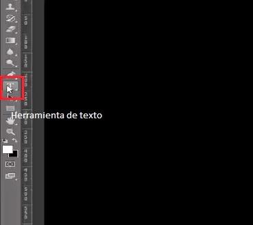 Selección de herramienta de texto