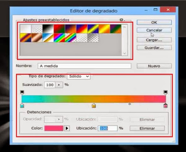 ventana de selección de colores