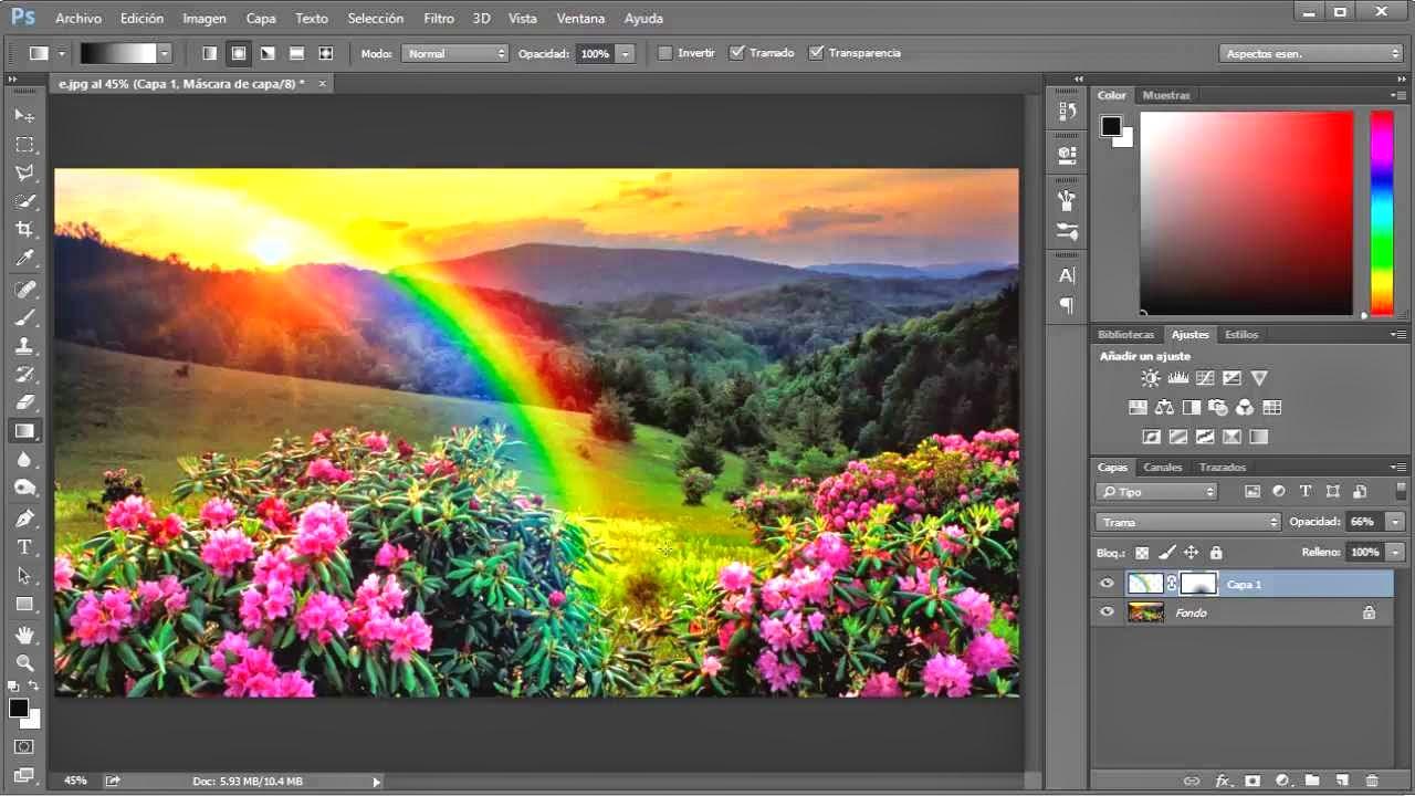 resultado arcoiris creado