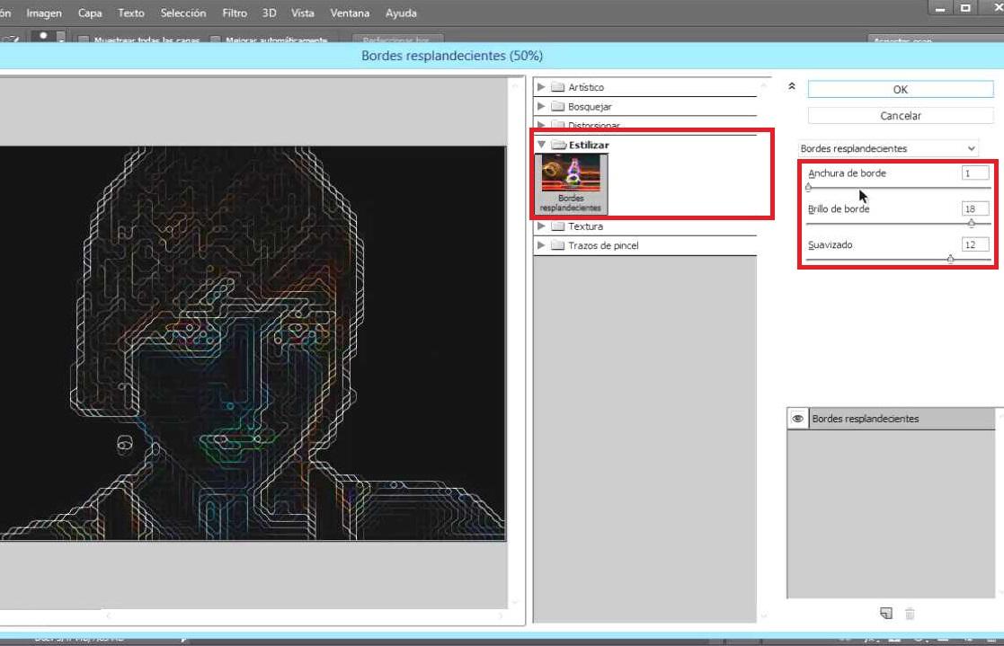 filtro galería de filtros estilizar
