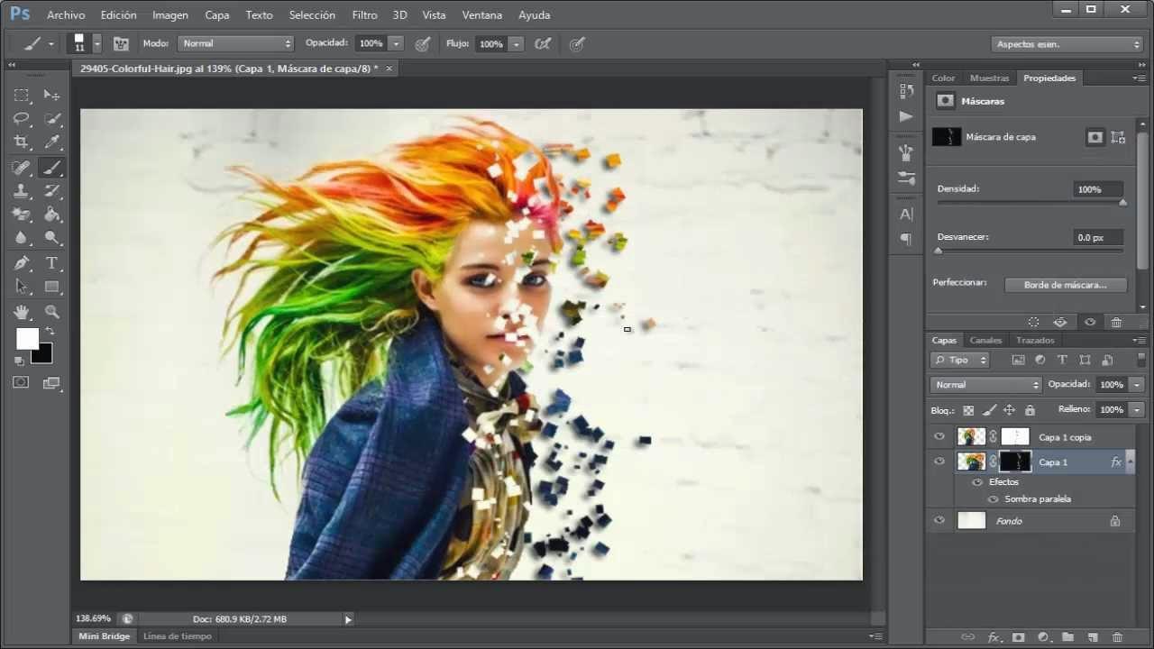 resultado de efecto de explosión de pixeles