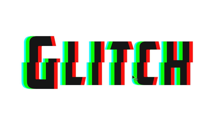 Efecto Con Estilo Glitch RGB En Un Texto
