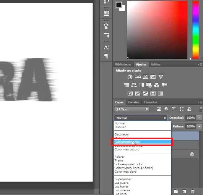 modo subexponer color