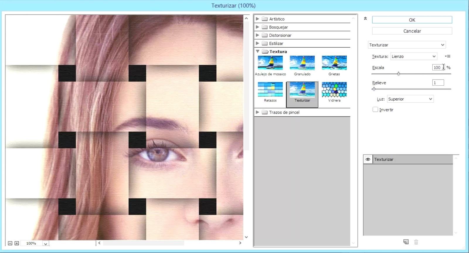 filtro texturizar