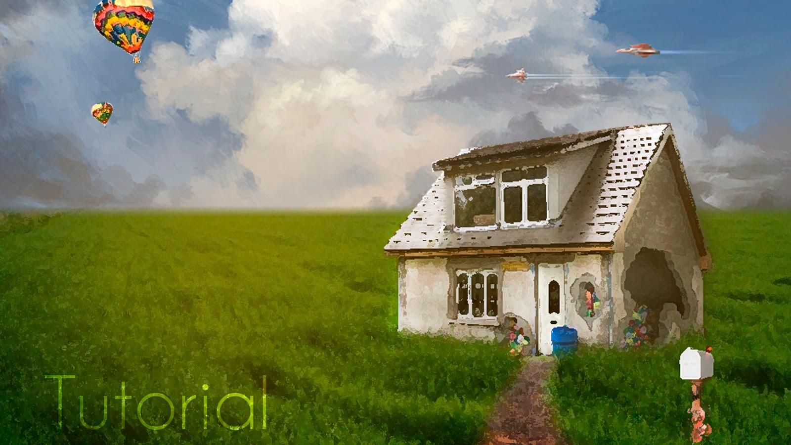 Manipulación de Photoshop La Feliz Casa Lejana