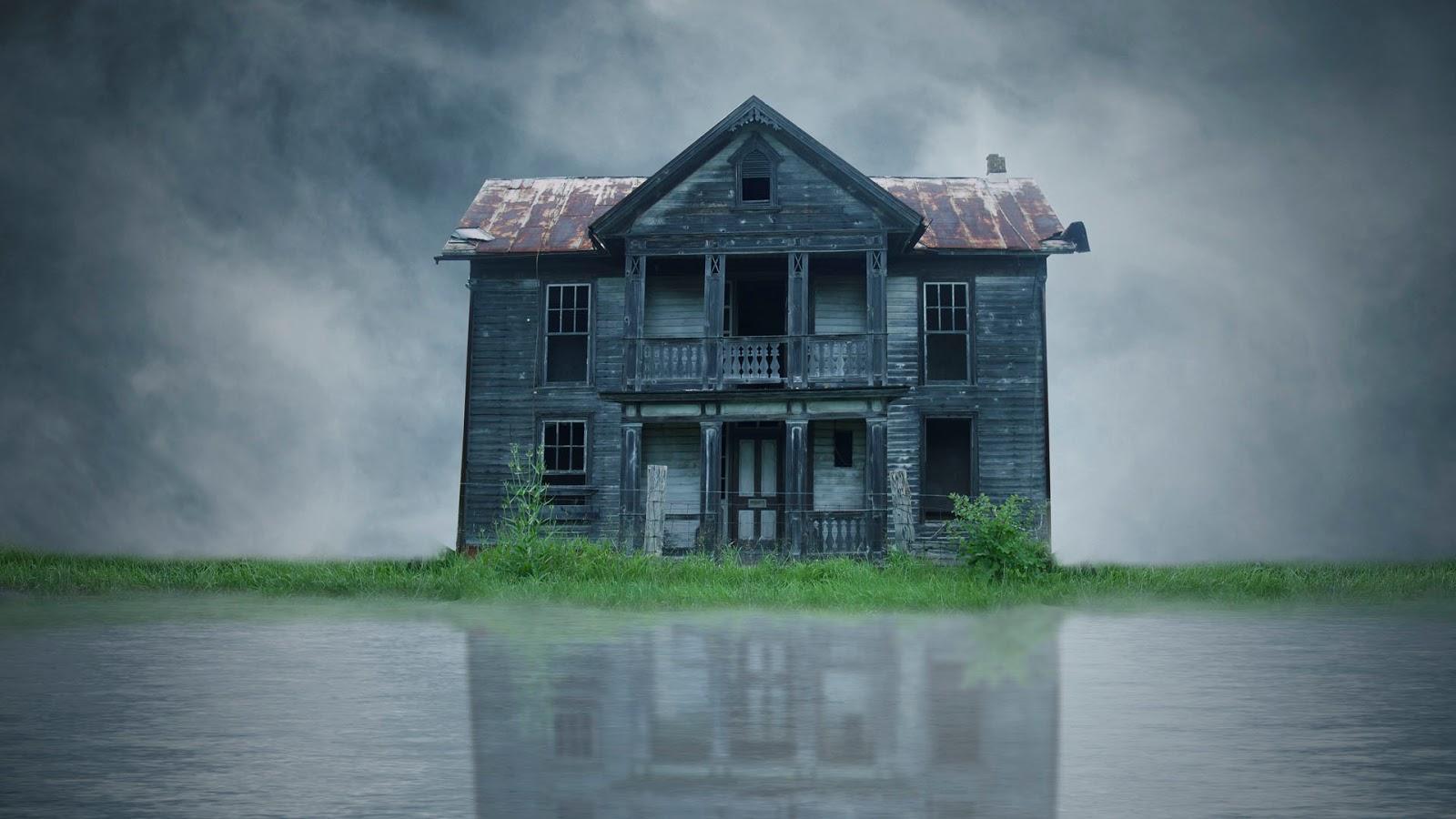 Photoshop Manipulacion: La Extraña Vivienda En El Lago