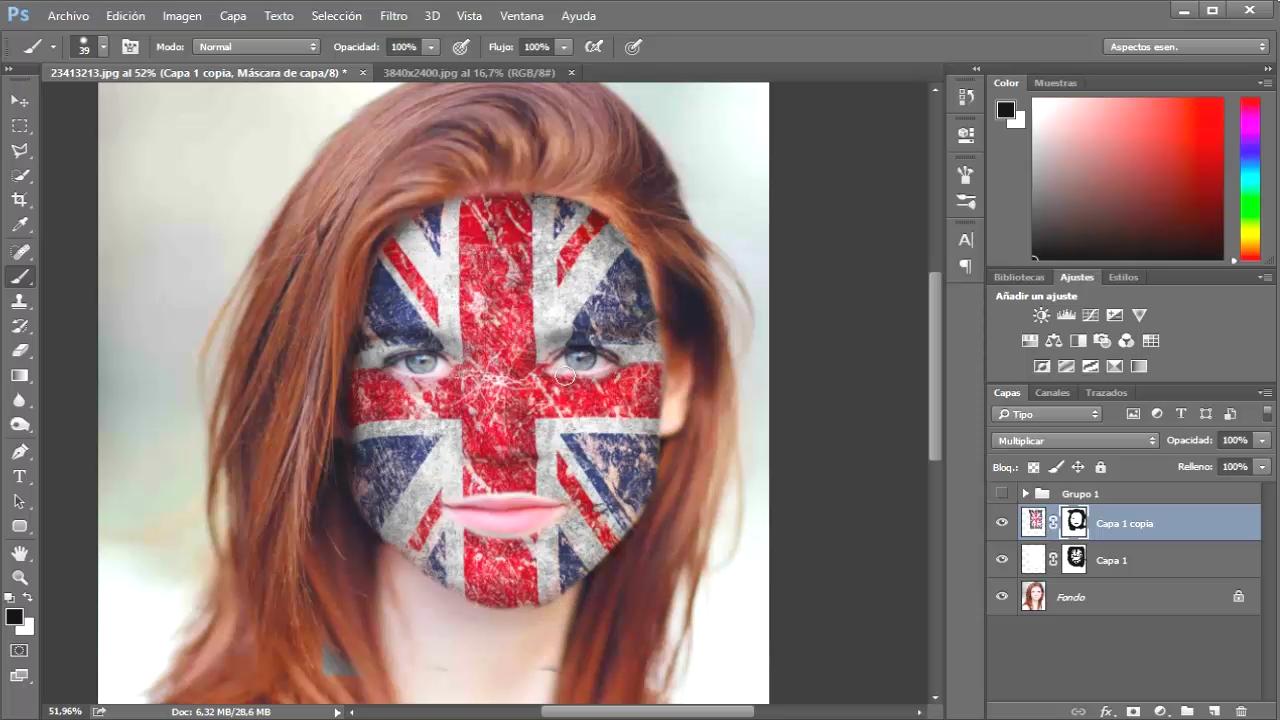 resultado efecto maquillaje pintado de cara