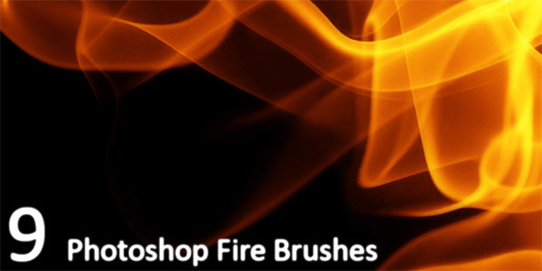 9 Hi-Res Fire Brushes For Photoshop