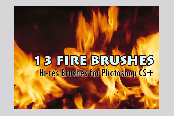13 Fire Backgrounds Brushes In Hi-Res For Photoshop