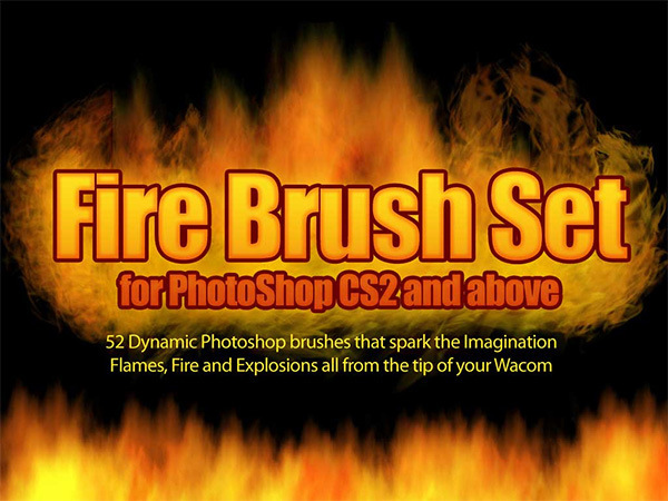 52 Fire Dynamic Effect Brushes For Photoshop