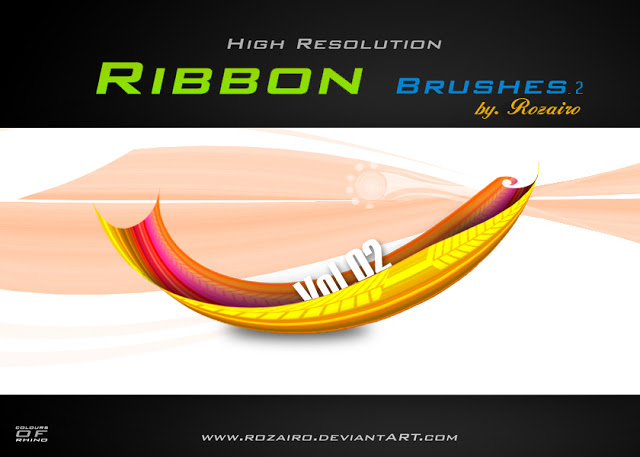 High Res Ribbon Brushes For PS