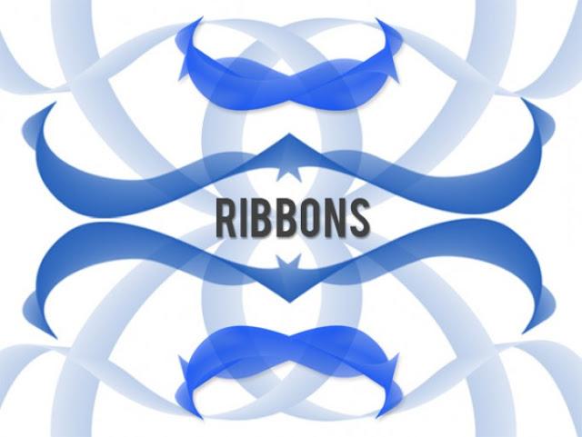 Ribbon Brushes For Photoshop
