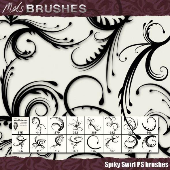 Spiky Swirl Brushes