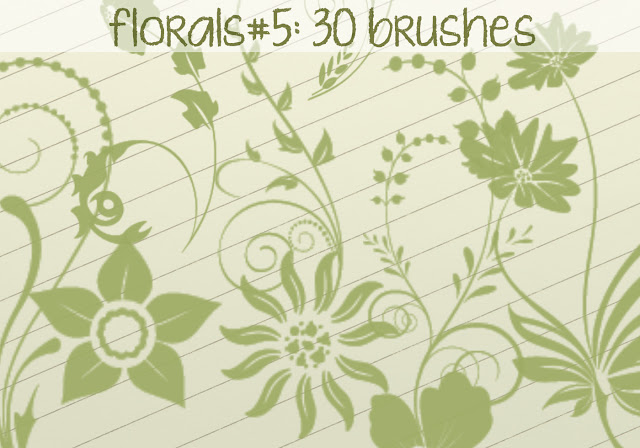 30 Floral Brushes 5