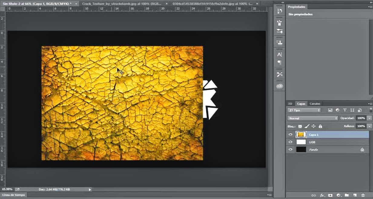 textura customizada tierra partida amarilla