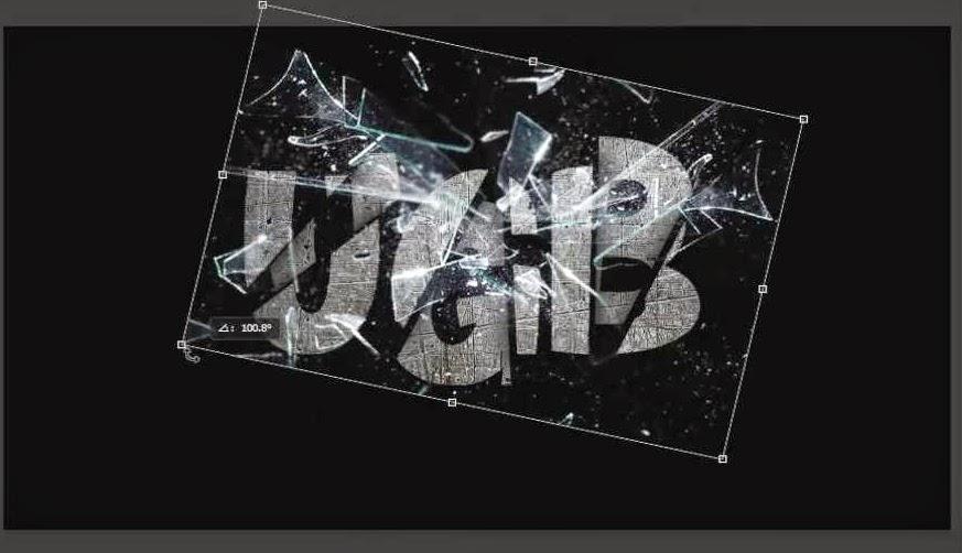 posiciona textura de vidrios rotos