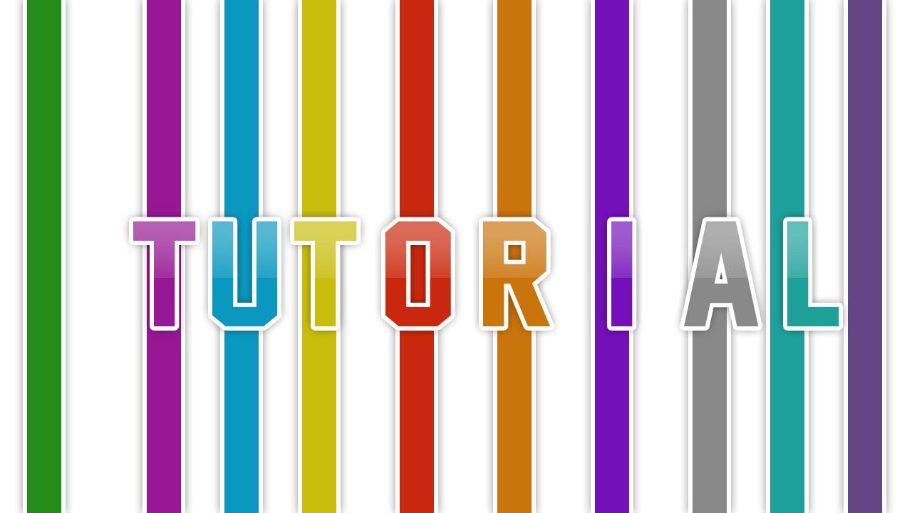 Texto Con Efecto De Lineas De Colores