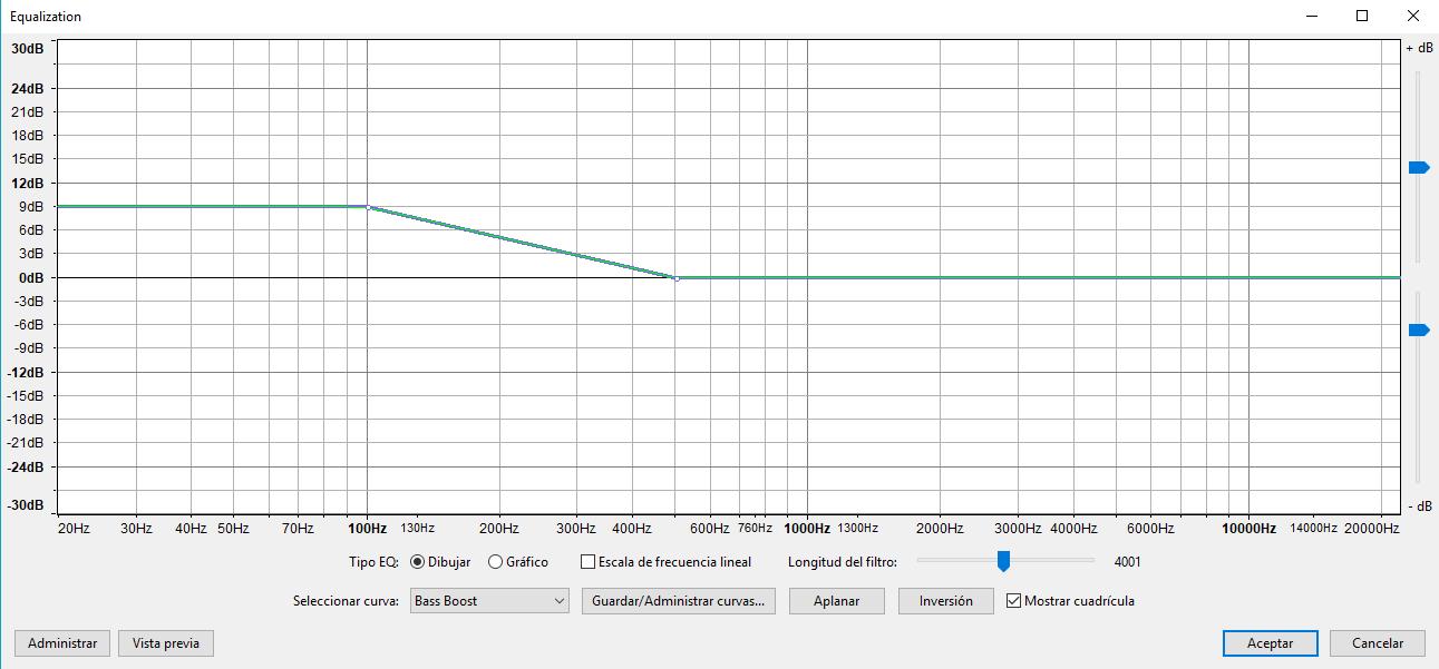 audacity bass boost