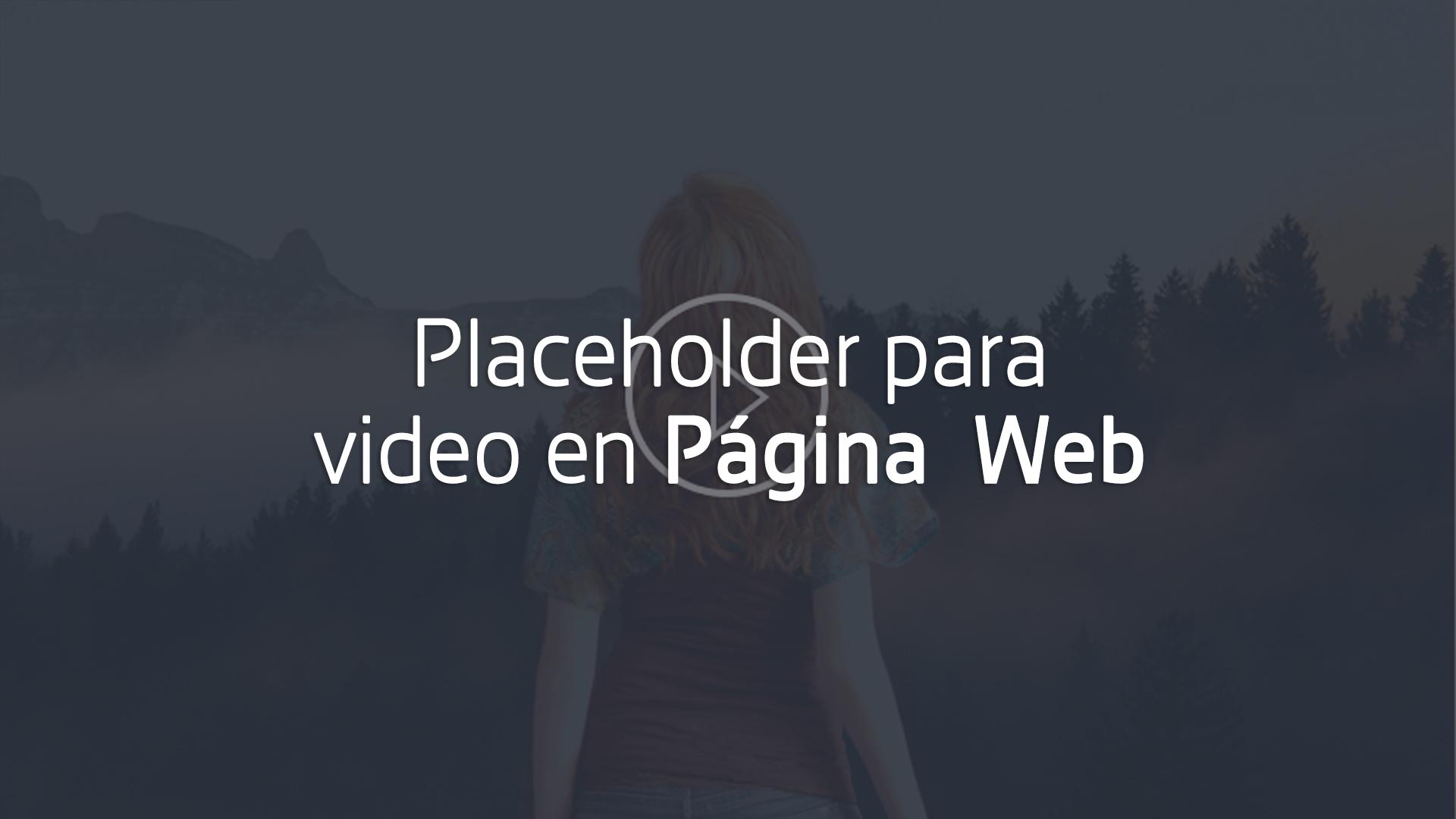 crear placeholder para video en página web cover