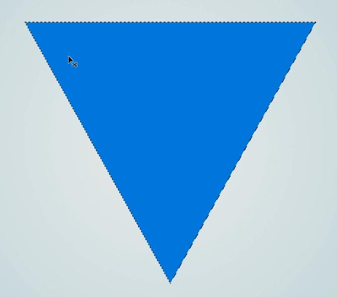 logo con imagen y texto fondo triangulo
