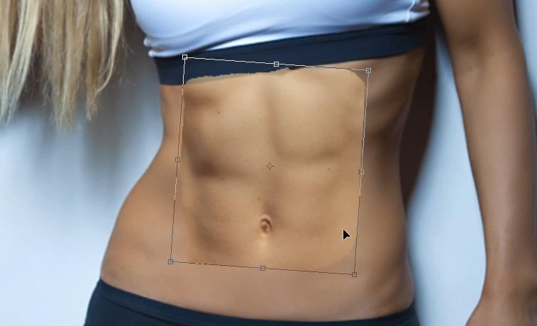 marcar abdominales con photoshop transformar abs