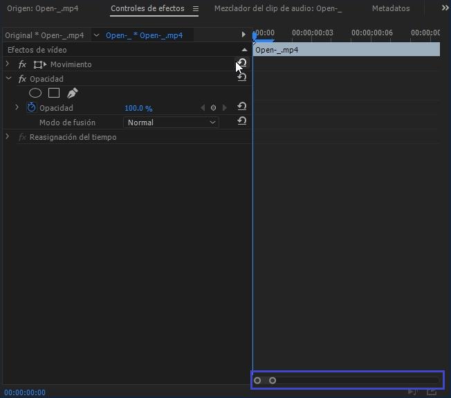transición animación entrada salida premiere pro efectos