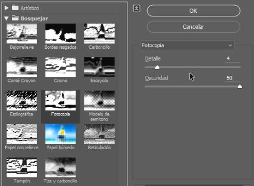 filtro fotocopia