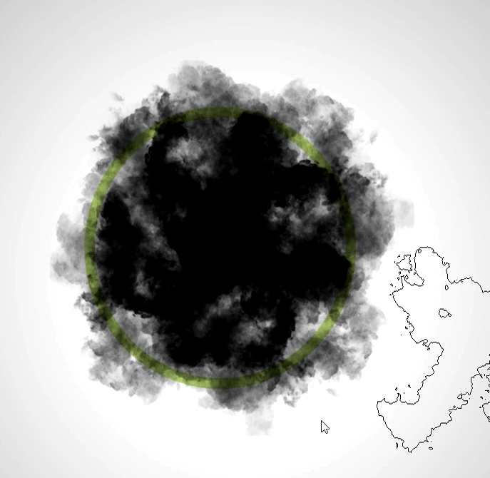 pinceles de humo aplicados
